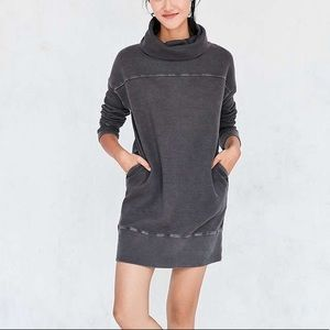 Silence and Noise cowl neck sweatshirt dress